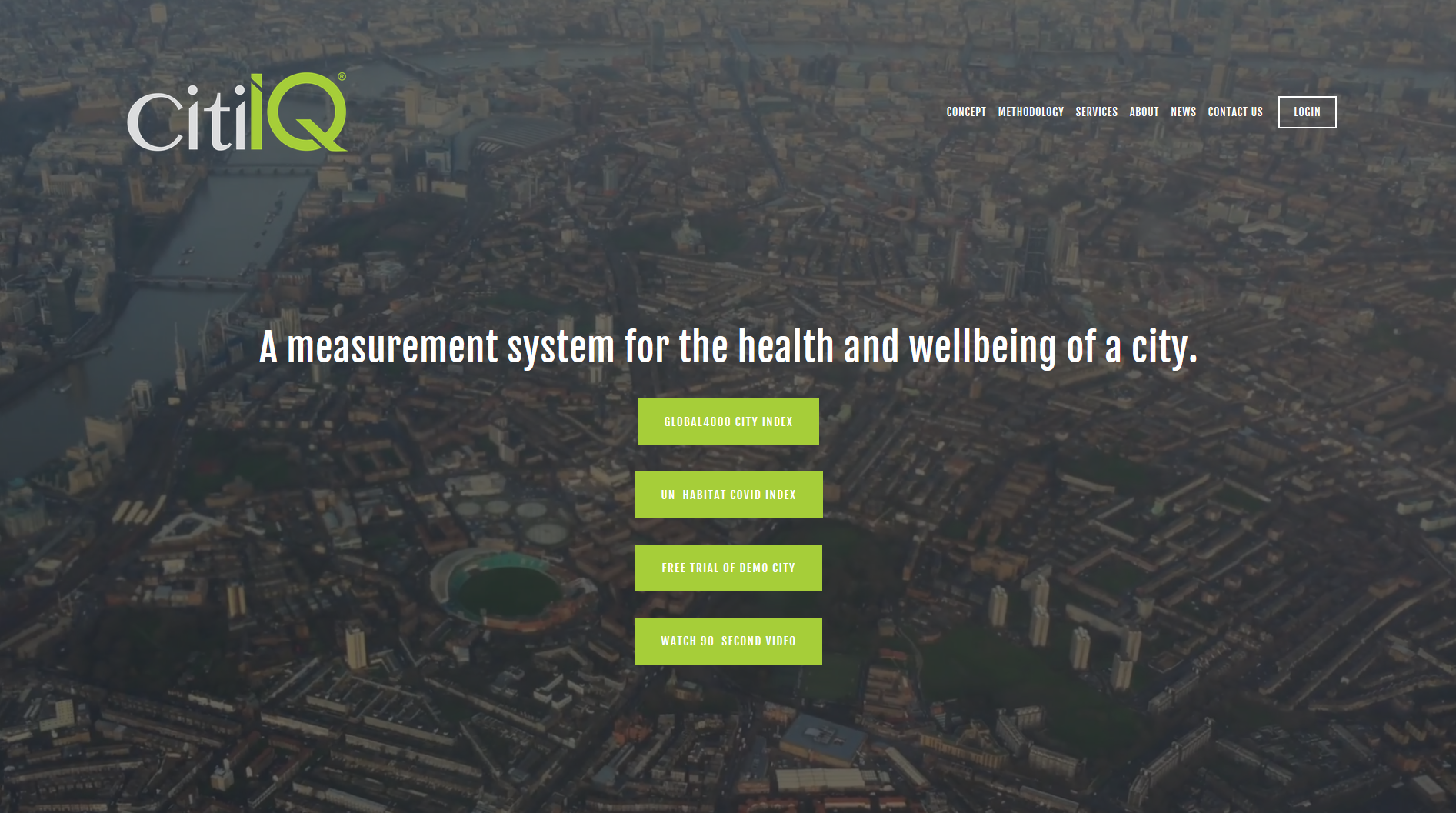 Image of CitiIQ website homepage with